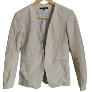 THEORY Beige Classic Fitted Simple Breasted Blazer